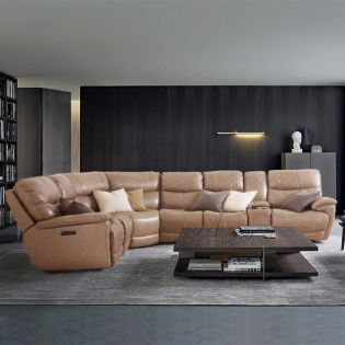 E1511  Power Leather Recliner Sofa