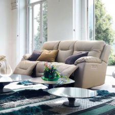 E1327  Power Leather Recliner Sofa