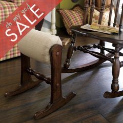 Homecoming  Vintage Maple Rocker Foot Stool