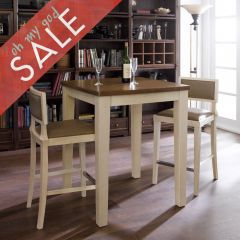 D325-2  Island Dining Set (1 Table + 2 Chairs)
