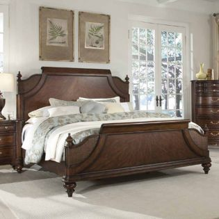Hickory  Low Poster Bed (침대)