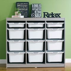 Kreo-GRY-WHT-12  Storage Box