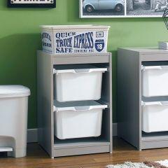 Kreo-GRY-WHT-2  Storage Box