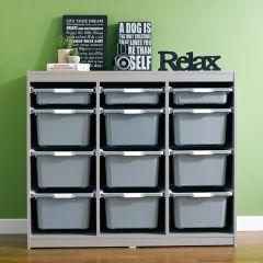 Kreo-GRY-GRY-12  Storage Box