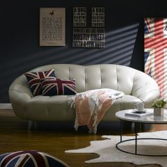 10271-25   Leather Sofa