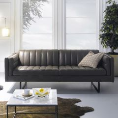 10157-30  Leather Sofa
