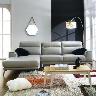 GL-B0144 Gray  Leather Sofa