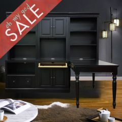 Forest Glenn Collection  Desk with Hutch