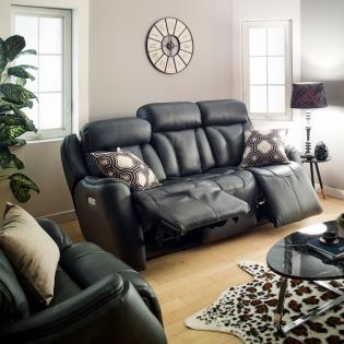 1721_62ph  Power Leather Recliner Sofa