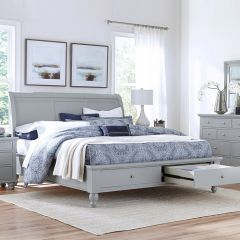 ICB-400-KD-1 New Sleigh Storage Bed (침대+협탁+화장대)