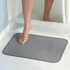 16212ES  iDry Bath Mat-Pewter