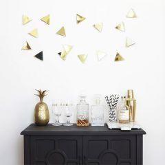 1004369-104 Confetti Triangles-Brass-16 Wall Décor