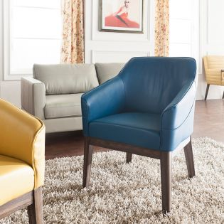 Dorian-Turquoise  Accent Chair