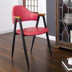 Arch Back-Tan  Metal Chair