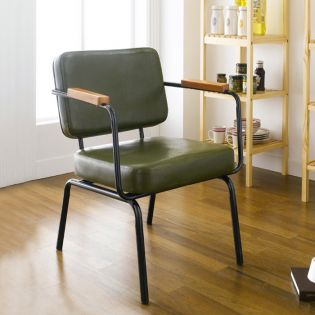 Square Back-Green  Metal Chair