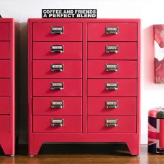 16-004-Red  Metal Cabinet