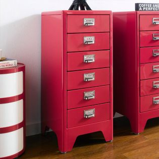 16-005-Red  Metal Cabinet