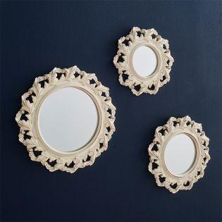 Xu-612  Decorative Wall Mirror (3 Pcs)