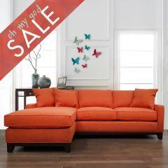 234 Janet-Orange  Sofa