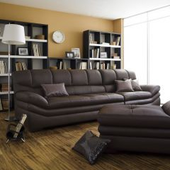 BY-5000-Brown  Leather Ottoman