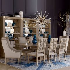 Bedford  Dining Set (1 Table + 2 Arm + 4 Side)  @@