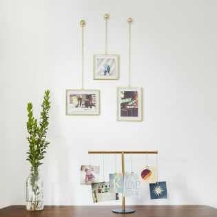 311335-221  Fotochain PD-Brass Photo Frame