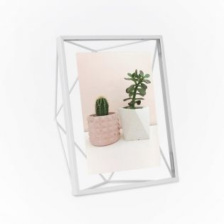 313015-660  Prisma PD 5x7-White Photo Frame
