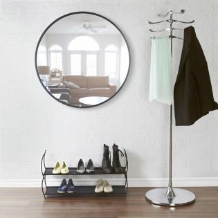 358370-040 Hub 37-Black Wall Mirror