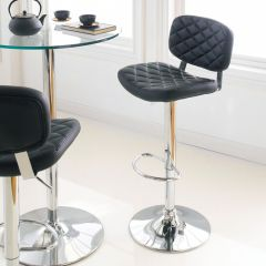 59792-Black  Alpini Ajustable Bar Stool