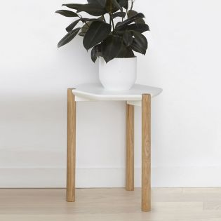 1005863-668 Lexy-Wht/Nat Side Table