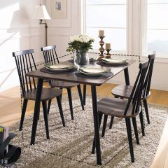 Julie-Black-4-D  Dining Table