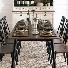 Julie-Black-6-D  Dining Table