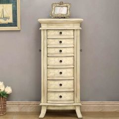 13659   Two Door, Seven Drawer Jewelry Armoire