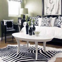 Hide zebra rug