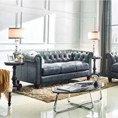8687-30  Leather Sofa