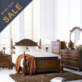 Tori-Q Bed Set   Queen Poster Bed (침대+협탁)