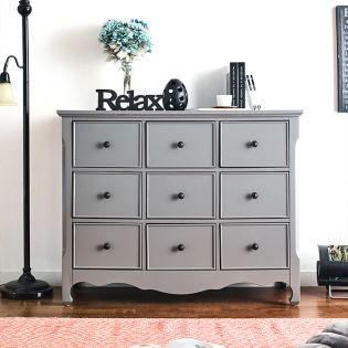 Calgary-Grey  9-Drawer Chest