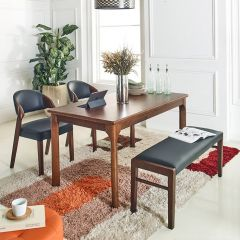 Caso-4-Walnut  Dining Set