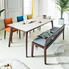 Crushblanko  Dining Set (1 Table + 3 Chairs + 1 Bench)