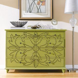 Nailhead-Green  Chest