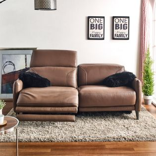 RS-A0228-PR-2.5S2UA   Power Leather Recliner Sofa