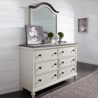 8940-1100 Brookhaven  Dresser + Mirror
