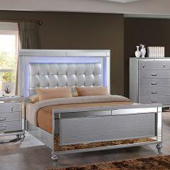 Valentino  Queen Panel Bed  (침대+협탁+화장대+거울)