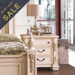 B8168-White  Nightstand ~French Style~