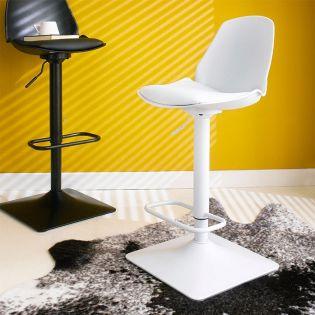 Cory-White  Bar Chair