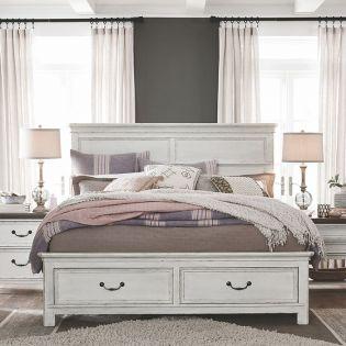 B4353  Panel Storage Bed  (침대+협탁+화장대)