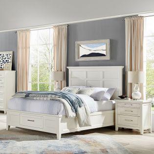 B4991  Panel Storage Bed  (침대+협탁+화장대)