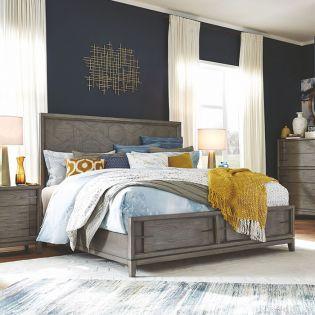 B4876  Pattern Storage Bed  (침대+협탁+화장대)