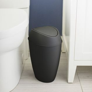 1012978-040 Trash Can Black