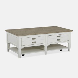 T4864-43  Rectangular Cocktail Table w/ Casters